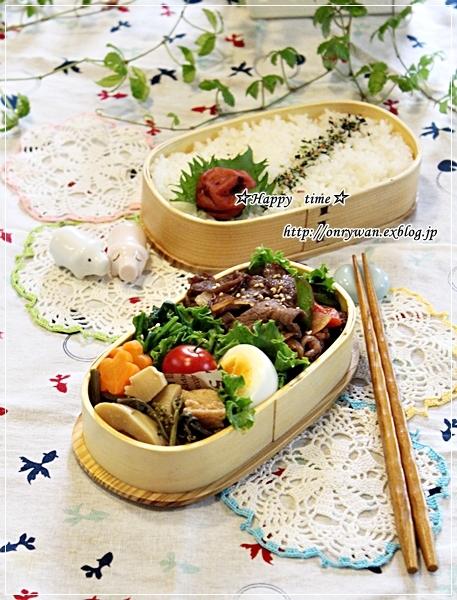 焼肉弁当とミニトマト成長日記①♪_f0348032_18012187.jpg