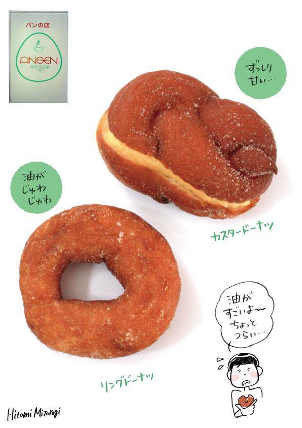【西荻窪】パン屋さん「アンセン」のドーナツ2種【油っぽいヨー!】_d0272182_21540333.jpg