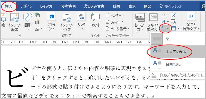 段落の先頭文字を大きくするドロップキャップの設定ができない_a0030830_09075464.png