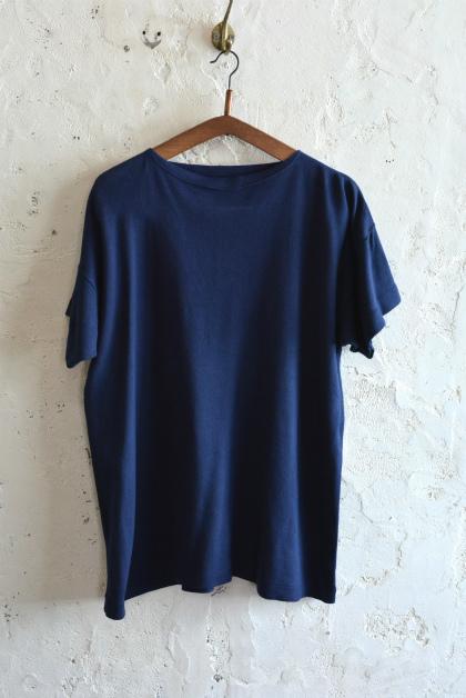 Italian navy boat neck t-shirts over dyed_f0226051_13563130.jpg