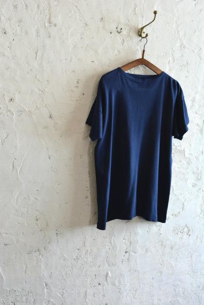 Italian navy boat neck t-shirts over dyed_f0226051_13563872.jpg