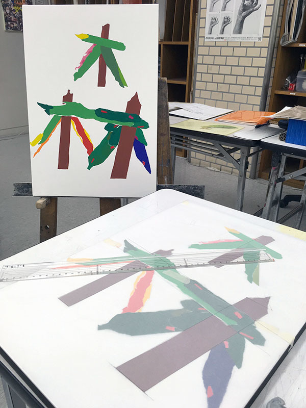 5週目は色彩構成の継続/デザイン・工芸科 私大コース_f0227963_18431142.jpg