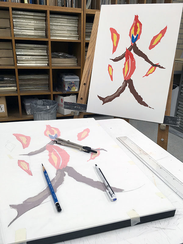5週目は色彩構成の継続/デザイン・工芸科 私大コース_f0227963_18433729.jpg