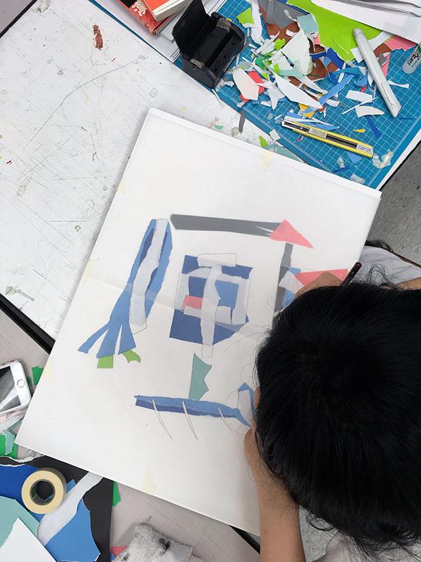 5週目は色彩構成の継続/デザイン・工芸科 私大コース_f0227963_18440153.jpg