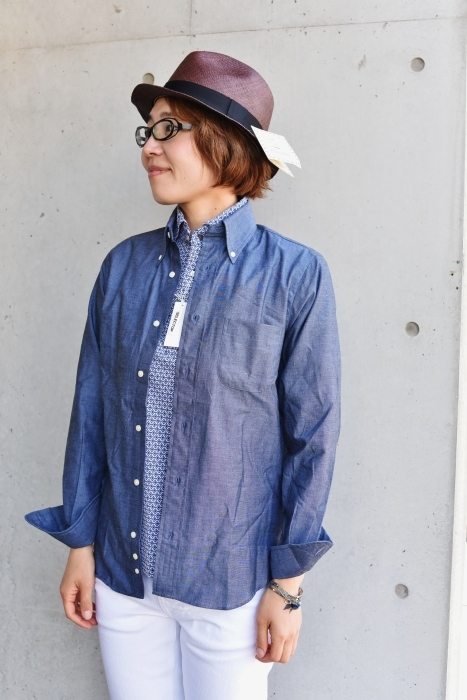 INDIVIDUALIZED SHIRTS 。。。DENIM Shambre・其の②!★!_d0152280_15570489.jpg