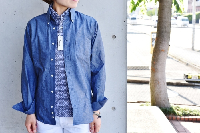 INDIVIDUALIZED SHIRTS 。。。DENIM Shambre・其の②!★!_d0152280_15572949.jpg