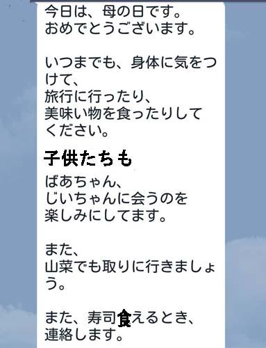 長男からの母の日メール&ふきの砂糖菓子_f0019498_6384274.jpg