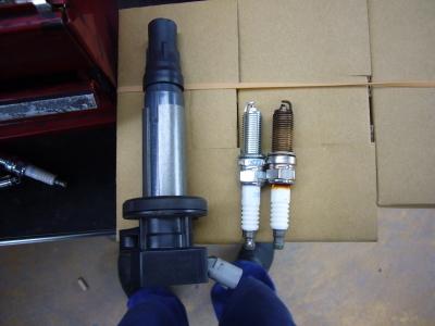 ダイハツタント エンジン不調修理(スパークプラグ)_c0267693_14311412.jpg
