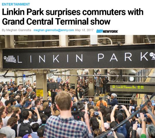 神バンド、リンキン・パークがNYの地下鉄駅構内でライブ!!_b0007805_1841308.jpg