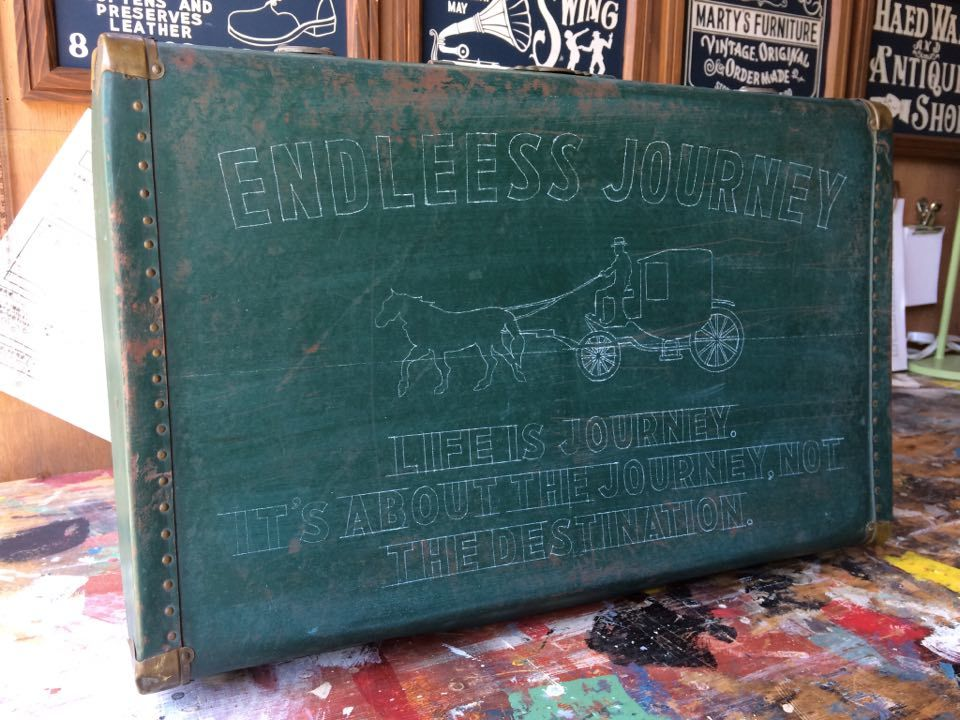 ◆ Vintage Luggage Sign Painting ◆_c0078202_17410765.jpg