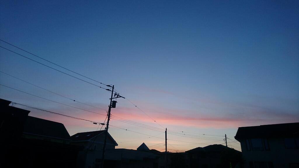 函館の夕焼け。映画PとJKロケ地の函館、亀梨和也さんも見たかな?_b0106766_19483842.jpg