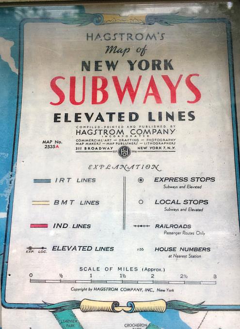 小学校前で昔のニューヨークの地下鉄路線図を発見!?_b0007805_18273177.jpg