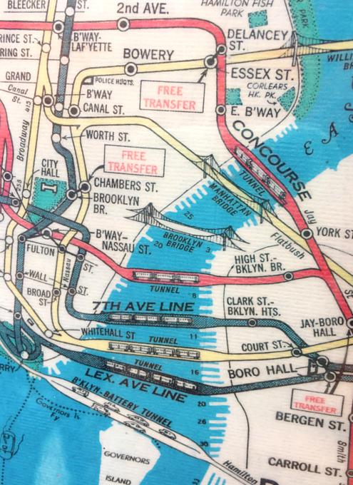 小学校前で昔のニューヨークの地下鉄路線図を発見!?_b0007805_18282471.jpg