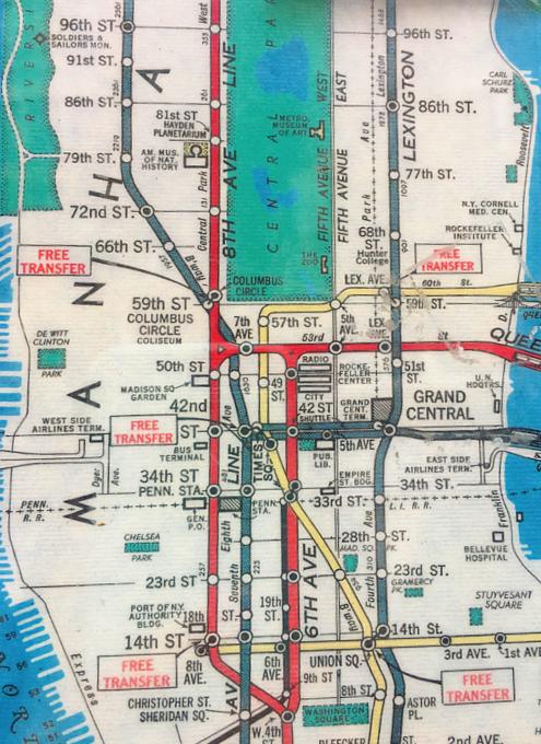 小学校前で昔のニューヨークの地下鉄路線図を発見!?_b0007805_18285080.jpg