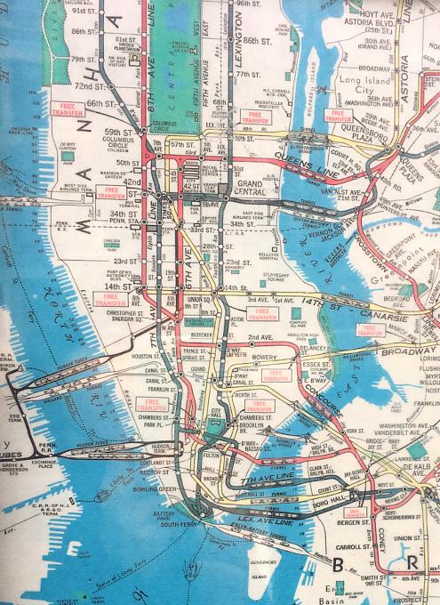 小学校前で昔のニューヨークの地下鉄路線図を発見!?_b0007805_18314248.jpg