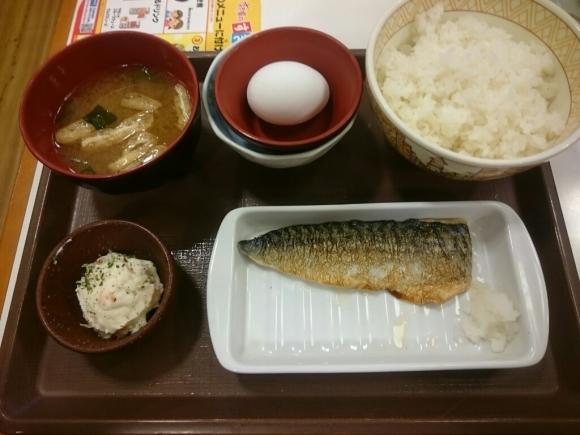 5/21  塩さばたまごかけごはん朝食¥390@すき家_b0042308_08040106.jpg