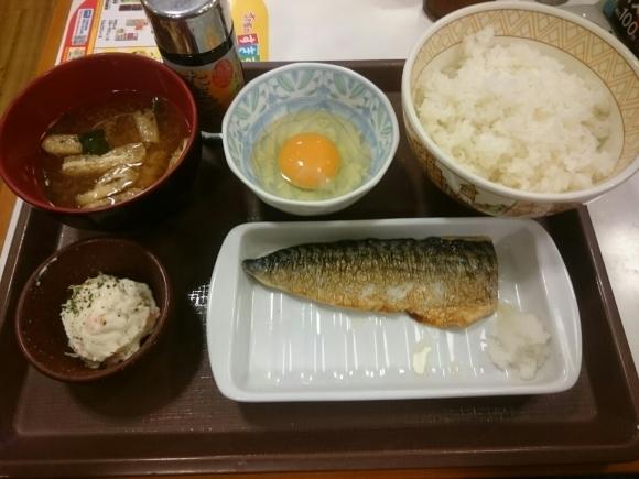 5/21  塩さばたまごかけごはん朝食¥390@すき家_b0042308_08040420.jpg