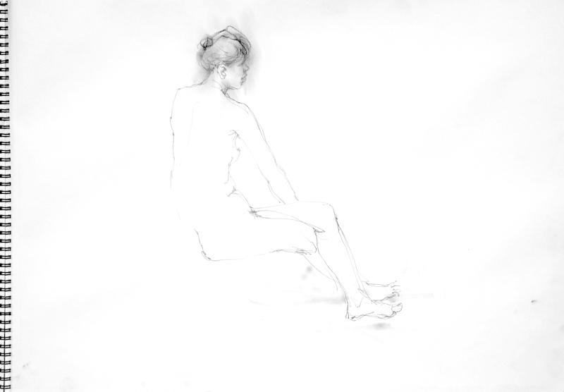 《 裸婦線描鉛筆 2 》_f0159856_09074777.jpg