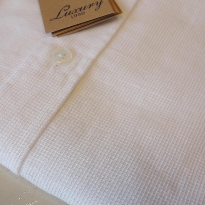 CIT LUXURY チット・ラグジュアリー メッシュコットン バンドカラーシャツ ( ホワイト )_c0118375_10342234.jpg
