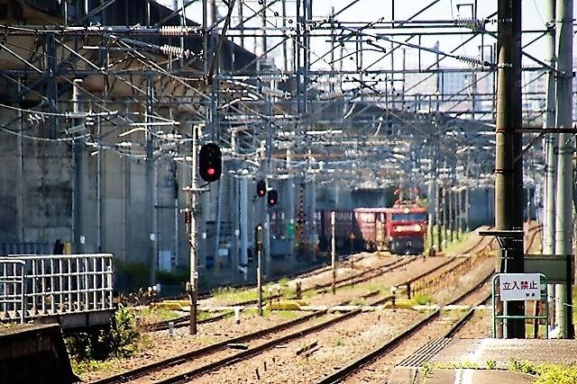藤田八束の鉄道写真@東北本線東仙台駅にて貨物列車の写真を撮りました・・・爽やかな仙台は最高の季節到来_d0181492_14012826.jpg