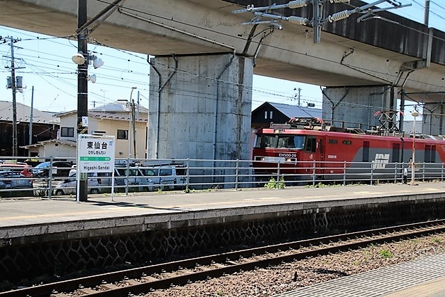 藤田八束の鉄道写真@東北本線東仙台駅にて貨物列車の写真を撮りました・・・爽やかな仙台は最高の季節到来_d0181492_14021352.jpg