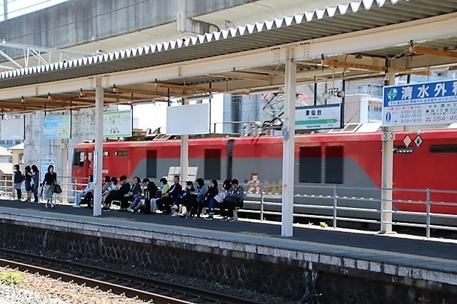 藤田八束の鉄道写真@東北本線東仙台駅にて貨物列車の写真を撮りました・・・爽やかな仙台は最高の季節到来_d0181492_14032854.jpg