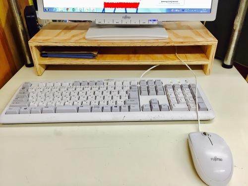 パソコンのキーボードとマウスの収納~簡単DIY~_f0234628_17430209.jpg