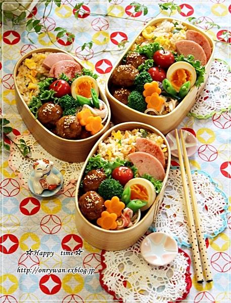鮭チャーハン弁当と湯種食パン♪_f0348032_18124925.jpg