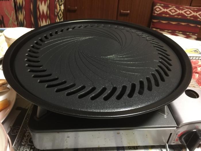 カセットコンロ用の鉄板で焼肉ーー!_c0110051_08563602.jpg