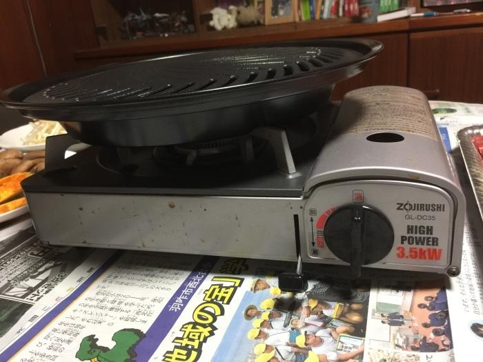 カセットコンロ用の鉄板で焼肉ーー!_c0110051_08564899.jpg