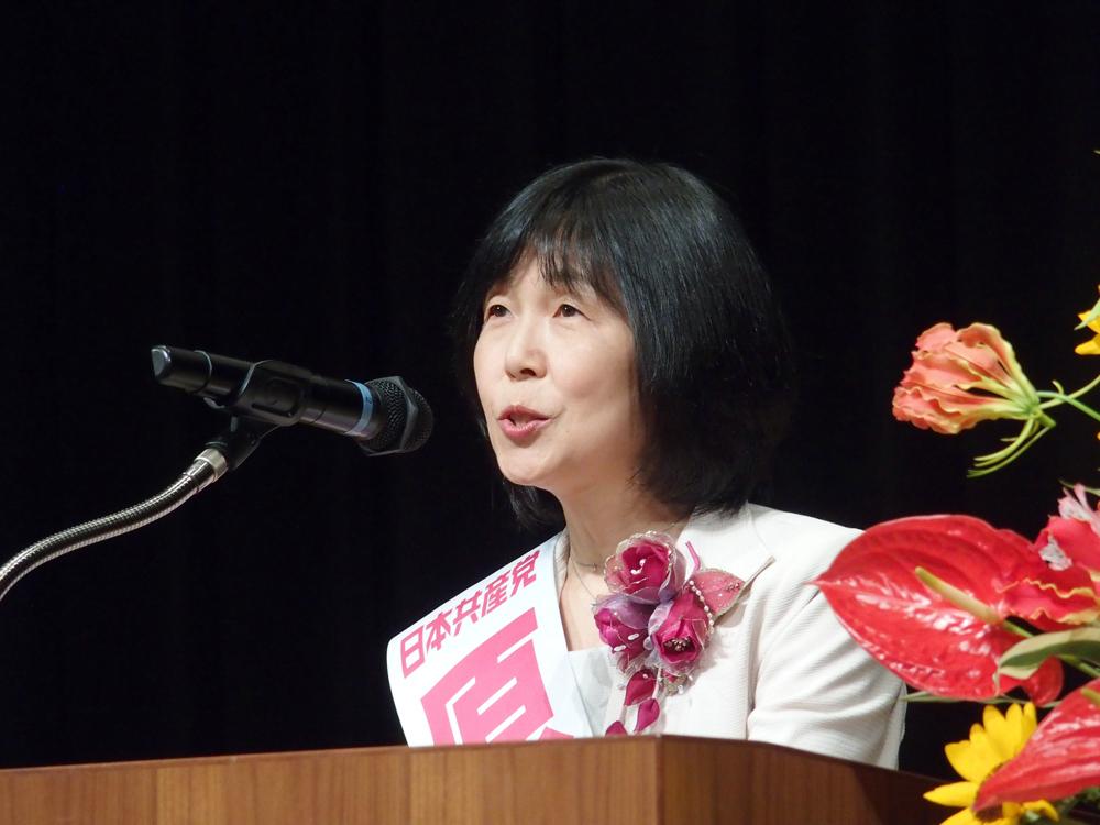 演説会での訴え(下) 共産党 3つの値打ち_b0190576_20433117.jpg
