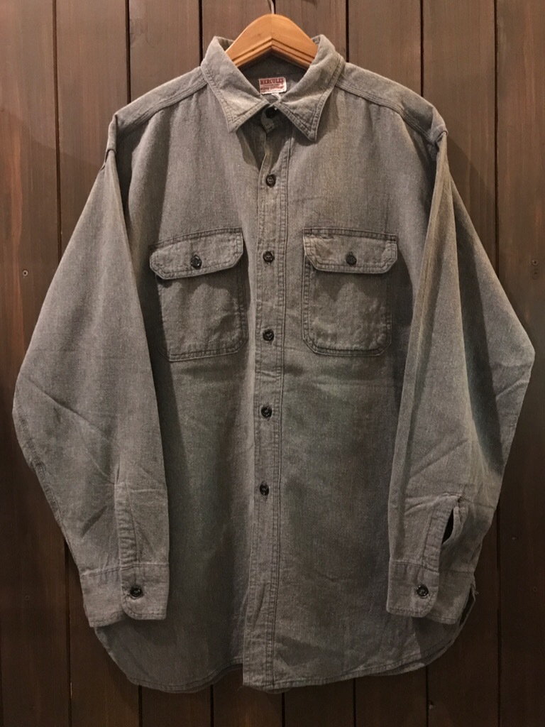 神戸店5/24(水)ヴィンテージウェア&スニーカー入荷!#6  Work Item Part2! Black&Blue Chambray Shirt!!!_c0078587_15464448.jpg