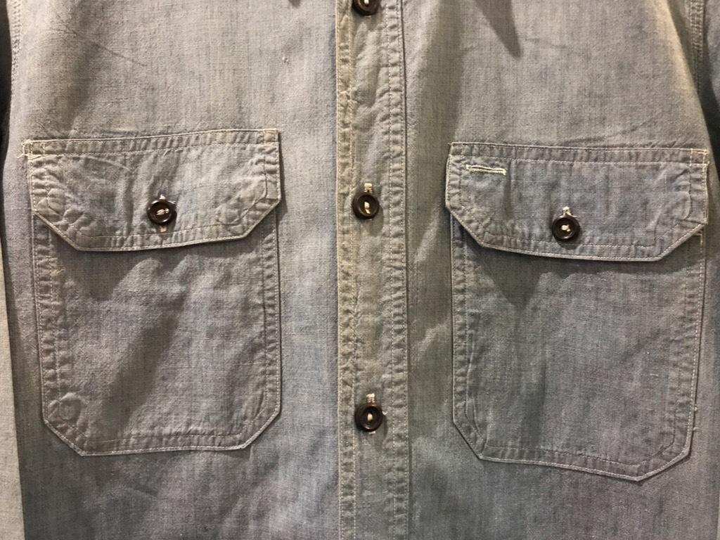 神戸店5/24(水)ヴィンテージウェア&スニーカー入荷!#6  Work Item Part2! Black&Blue Chambray Shirt!!!_c0078587_15551003.jpg