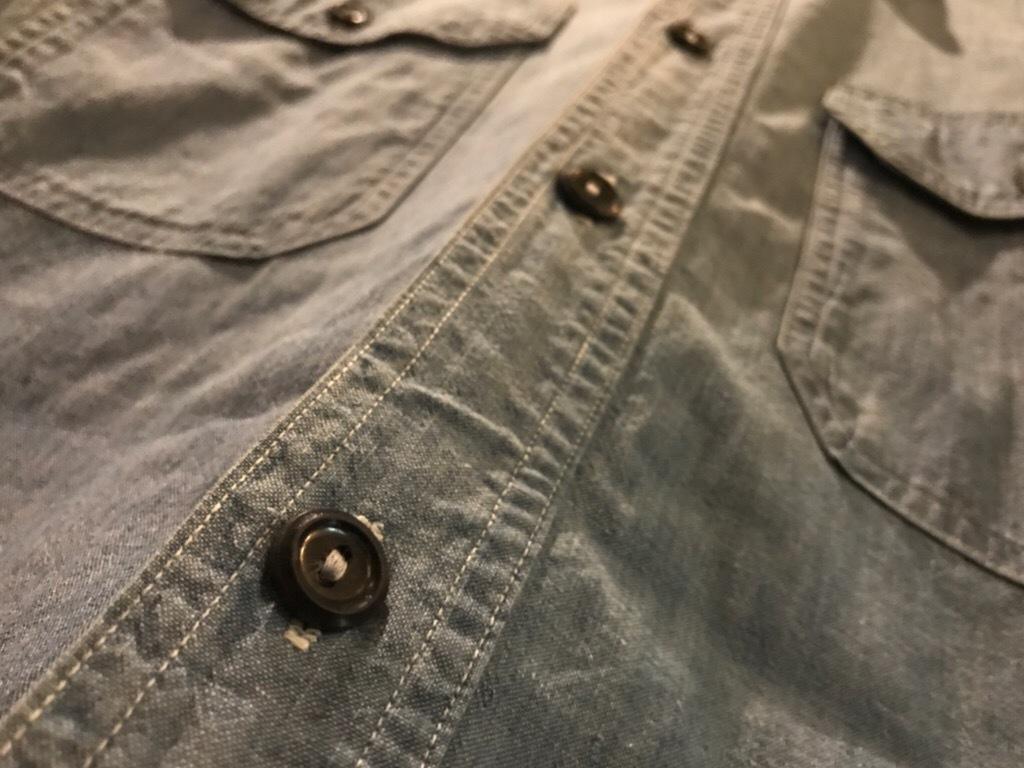 神戸店5/24(水)ヴィンテージウェア&スニーカー入荷!#6  Work Item Part2! Black&Blue Chambray Shirt!!!_c0078587_15551032.jpg