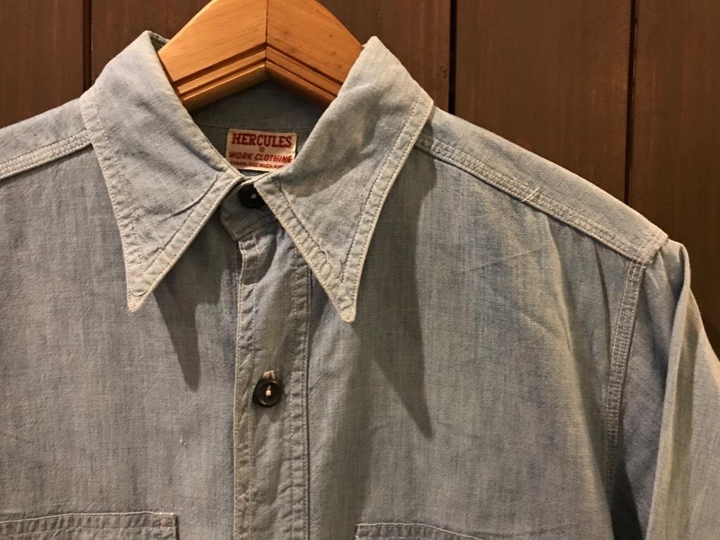 神戸店5/24(水)ヴィンテージウェア&スニーカー入荷!#6  Work Item Part2! Black&Blue Chambray Shirt!!!_c0078587_15551157.jpg