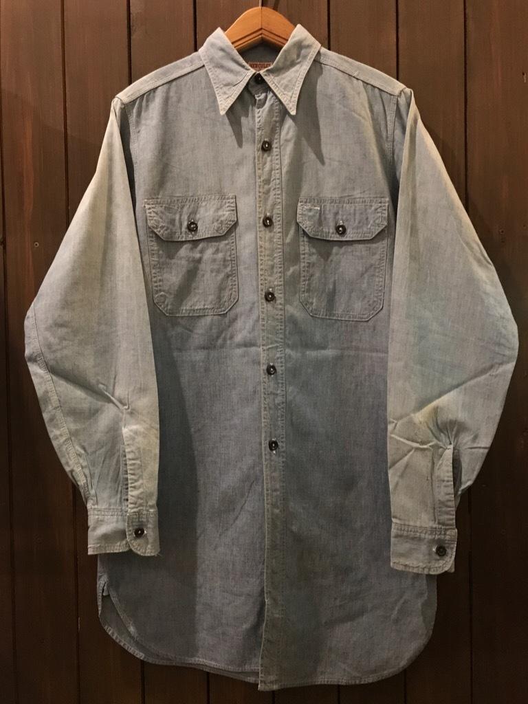 神戸店5/24(水)ヴィンテージウェア&スニーカー入荷!#6  Work Item Part2! Black&Blue Chambray Shirt!!!_c0078587_15551189.jpg