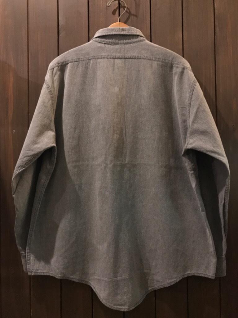 神戸店5/24(水)ヴィンテージウェア&スニーカー入荷!#6  Work Item Part2! Black&Blue Chambray Shirt!!!_c0078587_15560554.jpg