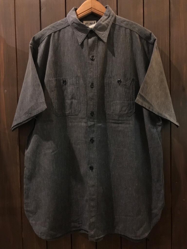 神戸店5/24(水)ヴィンテージウェア&スニーカー入荷!#6  Work Item Part2! Black&Blue Chambray Shirt!!!_c0078587_15572601.jpg