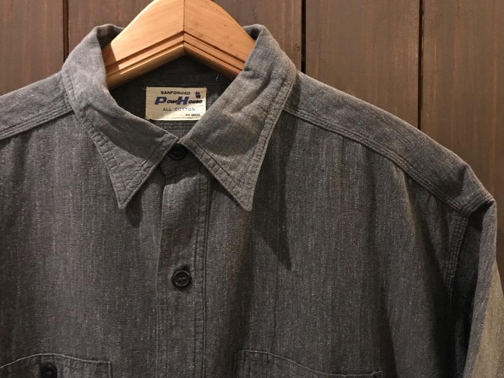神戸店5/24(水)ヴィンテージウェア&スニーカー入荷!#6  Work Item Part2! Black&Blue Chambray Shirt!!!_c0078587_15572661.jpg