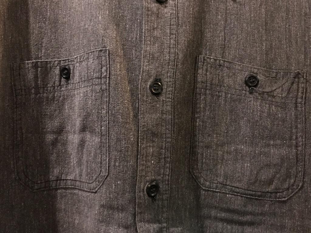 神戸店5/24(水)ヴィンテージウェア&スニーカー入荷!#6  Work Item Part2! Black&Blue Chambray Shirt!!!_c0078587_15572716.jpg