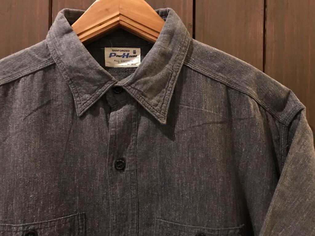 神戸店5/24(水)ヴィンテージウェア&スニーカー入荷!#6  Work Item Part2! Black&Blue Chambray Shirt!!!_c0078587_15583191.jpg