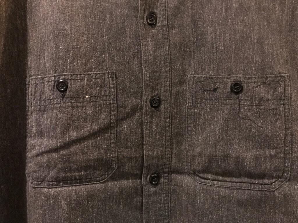 神戸店5/24(水)ヴィンテージウェア&スニーカー入荷!#6  Work Item Part2! Black&Blue Chambray Shirt!!!_c0078587_15583367.jpg
