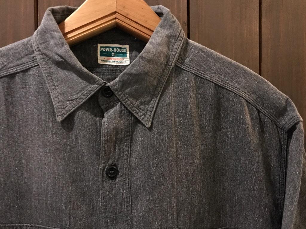 神戸店5/24(水)ヴィンテージウェア&スニーカー入荷!#6  Work Item Part2! Black&Blue Chambray Shirt!!!_c0078587_15590570.jpg