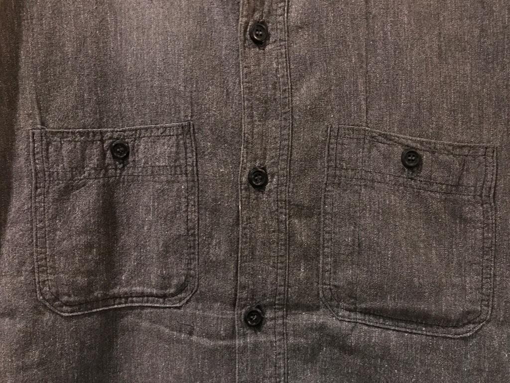 神戸店5/24(水)ヴィンテージウェア&スニーカー入荷!#6  Work Item Part2! Black&Blue Chambray Shirt!!!_c0078587_15590686.jpg