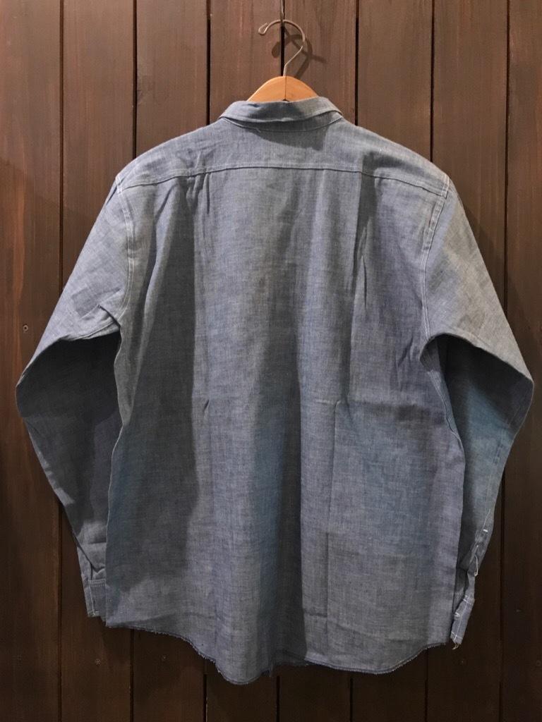 神戸店5/24(水)ヴィンテージウェア&スニーカー入荷!#6  Work Item Part2! Black&Blue Chambray Shirt!!!_c0078587_15594398.jpg