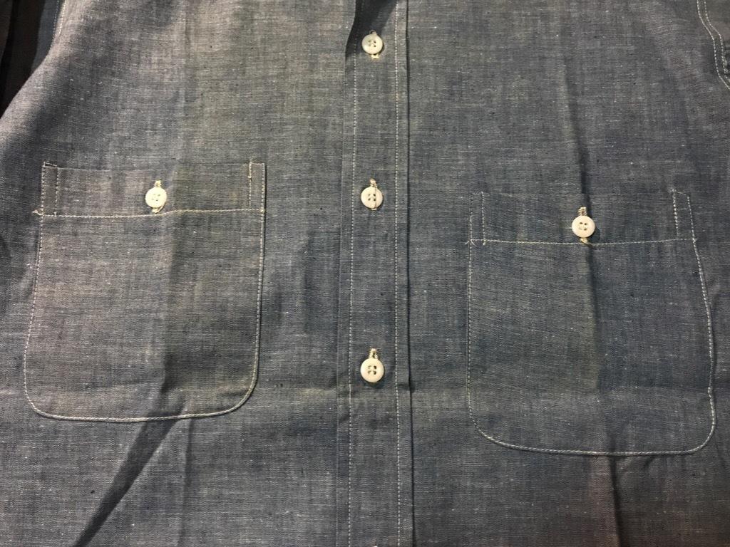 神戸店5/24(水)ヴィンテージウェア&スニーカー入荷!#6  Work Item Part2! Black&Blue Chambray Shirt!!!_c0078587_15594472.jpg