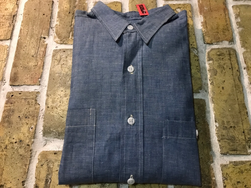神戸店5/24(水)ヴィンテージウェア&スニーカー入荷!#6  Work Item Part2! Black&Blue Chambray Shirt!!!_c0078587_15594511.jpg