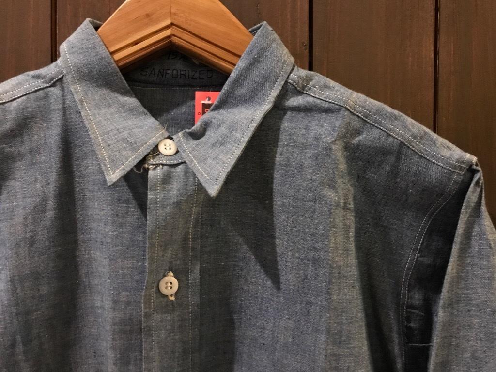 神戸店5/24(水)ヴィンテージウェア&スニーカー入荷!#6  Work Item Part2! Black&Blue Chambray Shirt!!!_c0078587_15594527.jpg