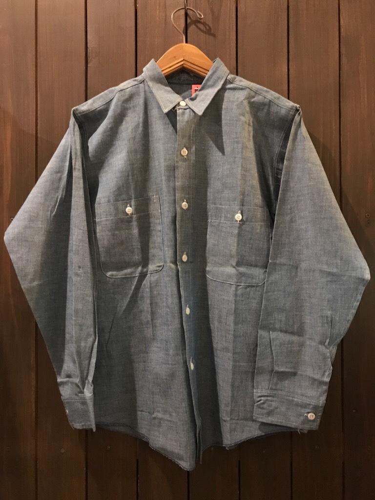 神戸店5/24(水)ヴィンテージウェア&スニーカー入荷!#6  Work Item Part2! Black&Blue Chambray Shirt!!!_c0078587_15594531.jpg