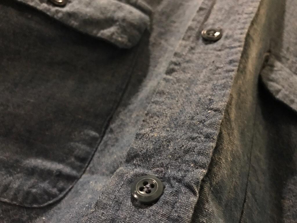 神戸店5/24(水)ヴィンテージウェア&スニーカー入荷!#6  Work Item Part2! Black&Blue Chambray Shirt!!!_c0078587_16003893.jpg